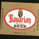 BAVARIAN Premium Beer Label /7oz.