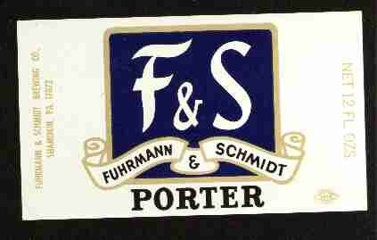 F & S  Porter Beer Label / 12oz.