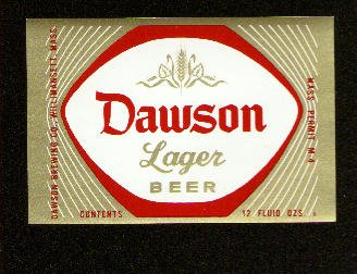 DAWSON Lager Beer Label /12oz