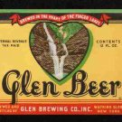GLENN BEER Beer Label IRTP /12oz.