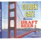 GOLDEN GATE Draft Beer Label / 32oz.