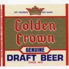 GOLDEN CROWNDraft Beer Label / 32oz