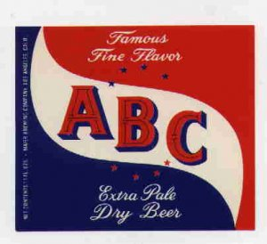 ABC Beer Label / 11oz