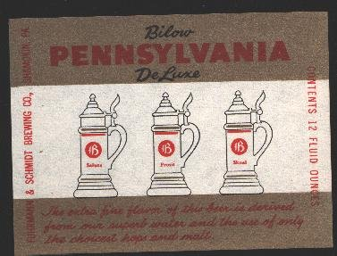 PENNSYLVANIA Deluxe Beer Label / 12oz.