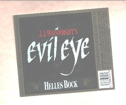 EVIL EYE Helles Bock Beer Label /12oz