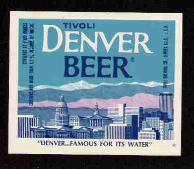DENVER BEER Label / 12oz.