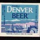 DENVER BEER Label / 12oz.