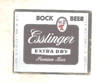 ESSLINGER Extra Dry Beer Label /12oz