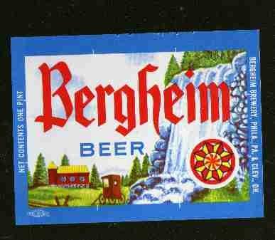 BERGHEIM Beer Label / 16oz.