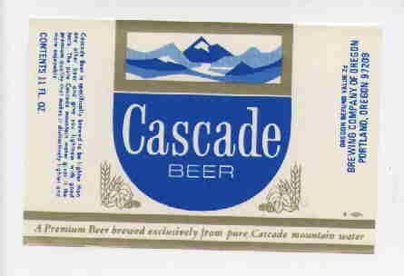 CASCADE Beer Label / 11oz.