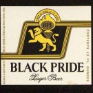 BLACKPRIDE Lager Beer Label / 12oz