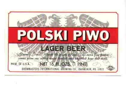POLSKI PIWO Lager Beer Label / 16oz.