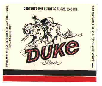 DUKE Beer Label / 32oz