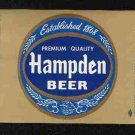 HAMPDEN Beer Label / 32oz.