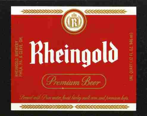 RHEINGOLD Premium Beer Label / 32oz