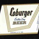 COBURGER Extra Dry Beer Label /12oz