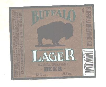 BUFFALO Lager Beer Label / 12oz.