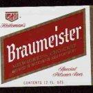 BRAUMEISTER Special Pilsener Beer Label / 12oz