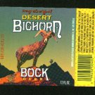 DESERT BIGHORN Bock Beer Label  /12oz