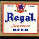 REGAL Supreme Beer Label / 12oz
