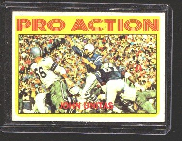 1972 Topps Pro Action JOHNNY UNITAS CD#251