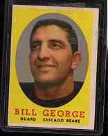 1958 Topps F.B. BILL GEORGE  Cd#119  VG-EX Con.