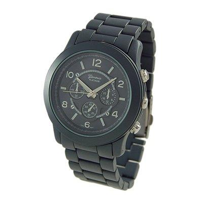 Geneva Platinum Gray Oversized Ceramic-Style Watch GP9158