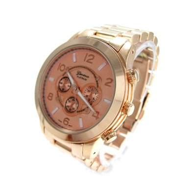 Geneva Platinum Rose Gold Ceramic-Style Watch GP9201