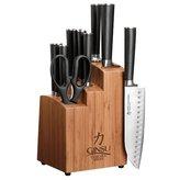 Ginsu Chikara 07112 12-Piece Stainless Steel Knife, Blade and Bamboo Block Set