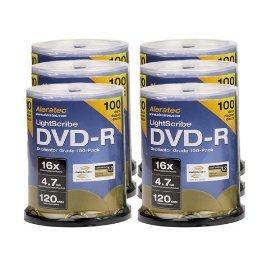 Aleratec 230117 16x LightScribe Duplicator Grade DVD-R (600 Pack)