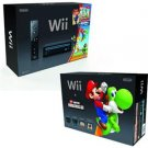 Black Wii Console w/New Super Mario Bros. Wii & Music CD