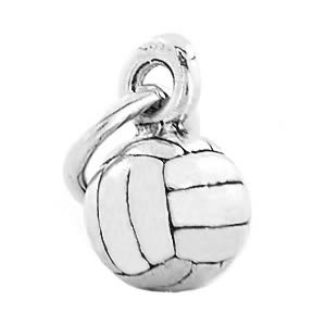 STERLING SILVER 3D VOLLEYBALL CHARM/PENDANT