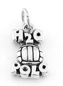 STERLING SILVER WATER POLO (H2O) CHARM/PENDANT