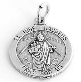 STERLING SILVER ST. JUDE THADDEUS CHARM/PENDANT
