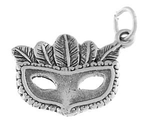 STERLING SILVER THEATER MASQUERADE MASK CHARM/PENDANT