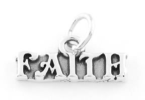 STERLING SILVER FAITH CHARM/PENDANT