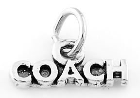 STERLING SILVER WORD COACH CHARM/ PENDANT