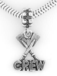 STERLING SILVER PADDLE CREW / ROWING EUROPEAN BEAD