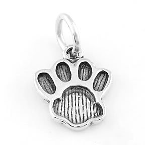 STERLING SILVER PAW PRINT CHARM/PENDANT