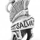 STERLING SILVER 3D ARMOR OF GOD-HELMET CHARM/PENDANT