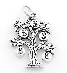 STERLING SILVER MONEY TREE CHARM/PENDANT