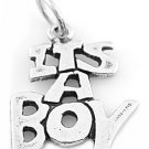 STERLING SILVER 925 SOLID IT'S A BOY CHARM/PENDANT