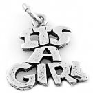STERLING SILVER IT'S A GIRL CHARM/PENDANT