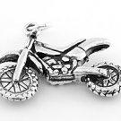 STERLING SILVER MOTOCROSS 3D DIRT BIKE CHARM/PENDANT