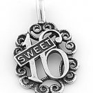 STERLING SILVER SWEET 16 CHARM / PENDANT