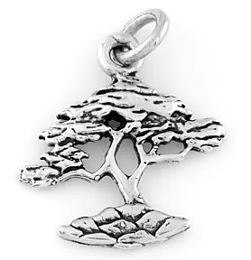 STERLING SILVER 925 BONSAI TREE CHARM/PENDANT