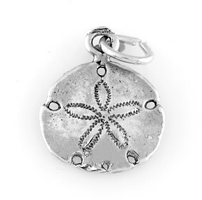 STERLING SILVER  SAND DOLLAR CHARM/PENDANT