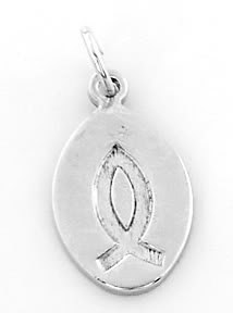 STERLING SILVER CHRISTIAN FISH CHARM/PENDANT