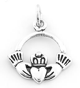 STERLING SILVER IRISH CLADDAGH CHARM/PENDANT