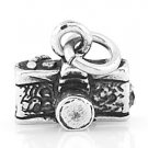 STERLING SILVER 3D PHOTOGRAPHER'S CAMERA CHARM/ PENDANT